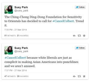 Response Tweets from Suey Park